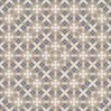 Teste padrão floral geométrico quadrado colorido abstrato decorativo Nontrivial Foto de Stock Royalty Free