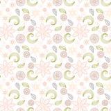 Teste padrão floral Handdrawn no estilo do vintage Imagem de Stock Royalty Free