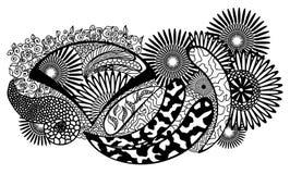 Teste padrão floral Handpainted da natureza Imagens de Stock