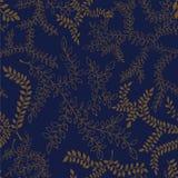 Teste padrão floral ilustração do esboço das folhas Fundo sem emenda Foto de Stock Royalty Free