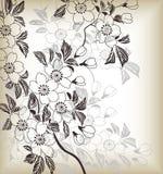 Teste padrão floral japonês ilustração royalty free
