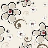 Teste padrão floral louco ilustração royalty free