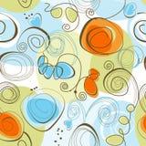 Teste padrão floral lunático Imagens de Stock