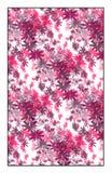 Teste padrão floral magenta do vetor Fotos de Stock