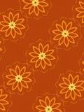 Teste padrão floral na laranja ilustração do vetor