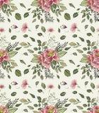 Teste padrão floral na moda nos muitos tipo das flores ilustração stock