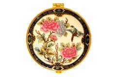 Teste padrão floral na porcelana Fotos de Stock Royalty Free