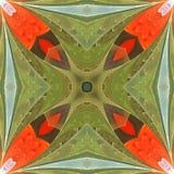 Teste padrão floral no estilo da janela de vidro colorido Você pode usá-lo para fotos de stock