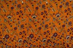 Teste padrão floral pequeno na tela Imagem de Stock Royalty Free