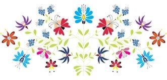 Teste padrão floral popular Imagens de Stock Royalty Free