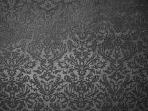 Teste padrão floral preto Fotos de Stock Royalty Free