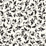 Teste padrão floral preto e branco sem emenda Ilustração do vetor ilustração do vetor