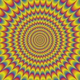 Teste padrão floral psicótico textura gerada Foto de Stock