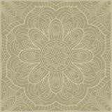 Teste padrão floral quadrado decorativo Imagem de Stock