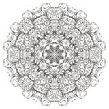 Teste padrão floral redondo Imagem de Stock