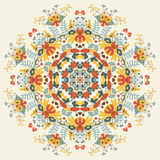 Teste padrão floral redondo decorativo ilustração royalty free
