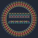 Teste padrão floral redondo decorativo Imagem de Stock Royalty Free