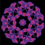 Teste padrão floral redondo decorativo Fotos de Stock