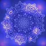 Teste padrão floral redondo decorativo do laço, mandala. Ilustração Royalty Free
