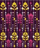 Teste padrão floral retro Fotografia de Stock Royalty Free