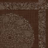 Teste padrão floral retro abstrato Fotos de Stock Royalty Free