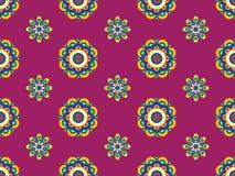 Teste padrão floral retro Funky Ilustração Royalty Free