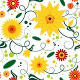 Teste padrão floral sem emenda Fotos de Stock