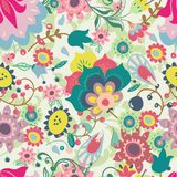 Teste padrão floral sem emenda Fotos de Stock Royalty Free