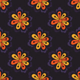 Teste padrão floral sem emenda abstrato com elementos tirados mão da garatuja Fotos de Stock Royalty Free