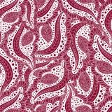 Teste padrão floral sem emenda abstrato Ornamento para cartões Fundo sem emenda de elementos repetitivos, scrollwork de Borgonha Imagens de Stock