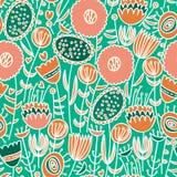Teste padrão floral sem emenda colorido Fotos de Stock