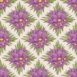 Teste padrão floral sem emenda com açafrão Fotografia de Stock