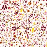 Teste padrão floral sem emenda com flores e folhas Imagem de Stock Royalty Free
