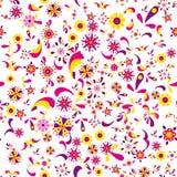 Teste padrão floral sem emenda com flores e folhas Imagens de Stock Royalty Free