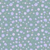 Teste padrão floral sem emenda com flores pequenas Foto de Stock Royalty Free