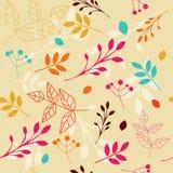 Teste padrão floral sem emenda com folhas ilustração royalty free