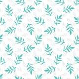 Teste padrão floral sem emenda com folhas Foto de Stock