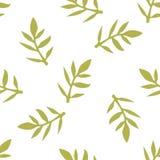 Teste padrão floral sem emenda com folhas Imagens de Stock Royalty Free