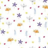 Teste padrão floral sem emenda com folhas coloridas Imagem de Stock Royalty Free