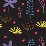 Teste padrão floral sem emenda com folhas coloridas Foto de Stock Royalty Free