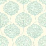 Teste padrão floral sem emenda com folhas do álamo tremedor Fotos de Stock