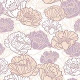 Teste padrão floral sem emenda com papoilas Foto de Stock