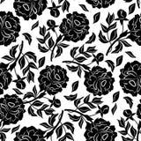 Teste padrão floral sem emenda com peônias Foto de Stock