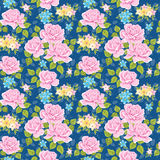 Teste padrão floral sem emenda com rosas ilustração royalty free
