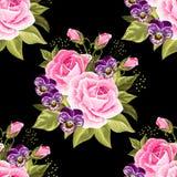 Teste padrão floral sem emenda com rosas Imagem de Stock
