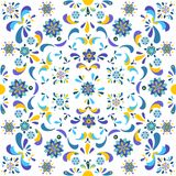 Teste padrão floral sem emenda das flores e das folhas Imagem de Stock