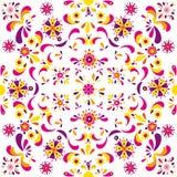 Teste padrão floral sem emenda das flores e das folhas Fotos de Stock Royalty Free