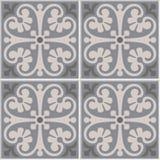 Teste padrão floral sem emenda das telhas portuguesas Imagem de Stock
