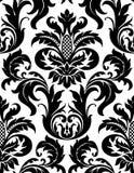 Teste padrão floral sem emenda do damasco do vetor Foto de Stock Royalty Free