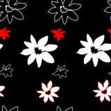 Teste padrão floral sem emenda do grunge Imagem de Stock
